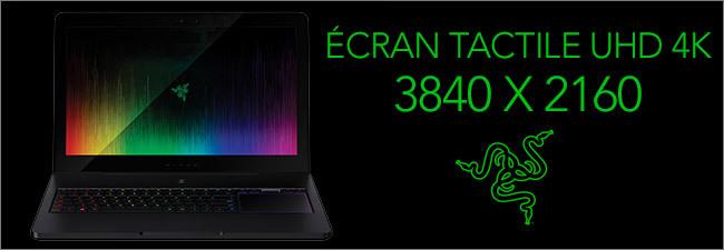 Ecran UHD 4K Tactile