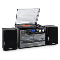 AUNA - Mini chaîne HiFi CD USB platine stereo k7 encodage MP3