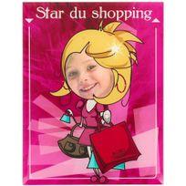 Promobo - Cadre Photo Enfant Rigolo Star Accro au Shopping