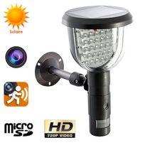 Yonis - Lampe solaire caméra espion détection mouvement surveillance extérieur