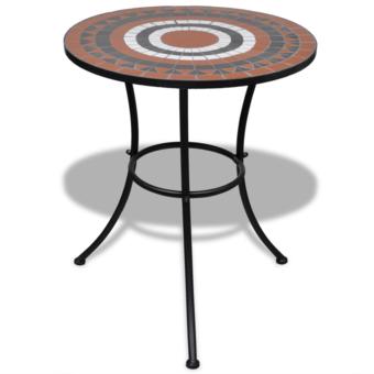 Rocambolesk - Superbe Table mosaïque terre cuite / blanc Neuf