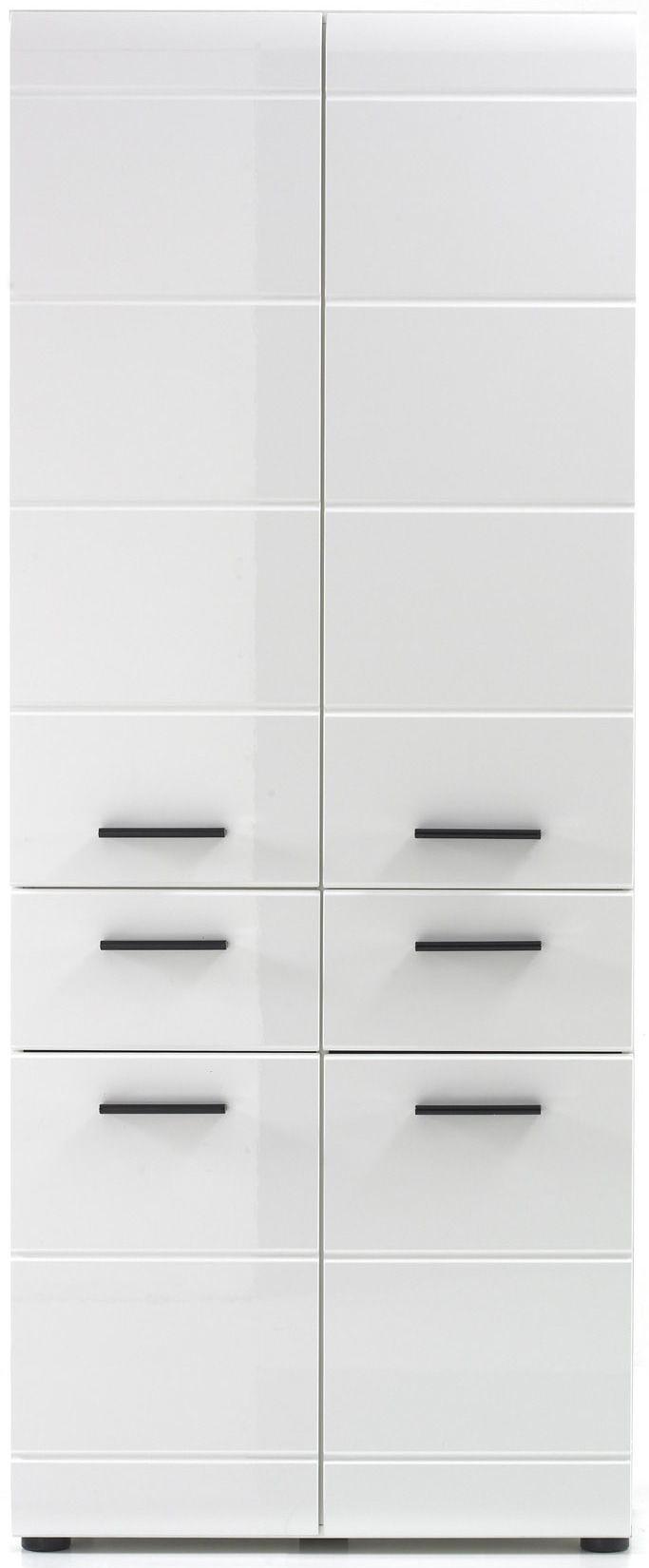 Meuble de rangement pour salle de bain coloris blanc