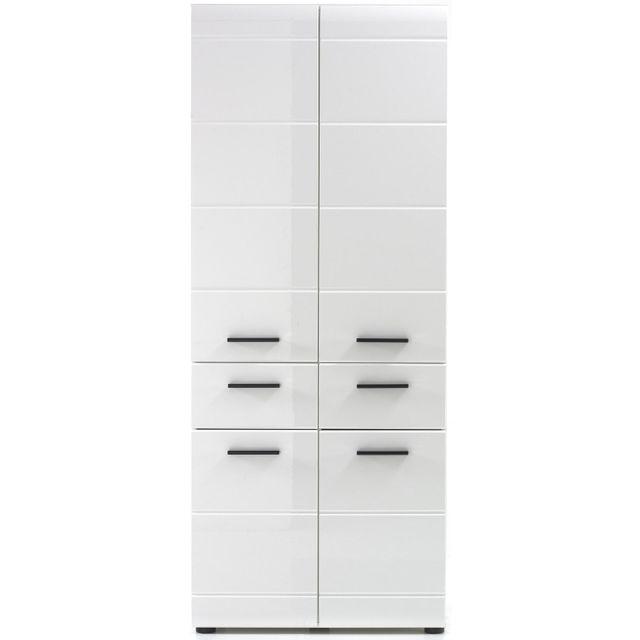 COMFORIUM - Meuble de rangement pour salle de bain coloris blanc