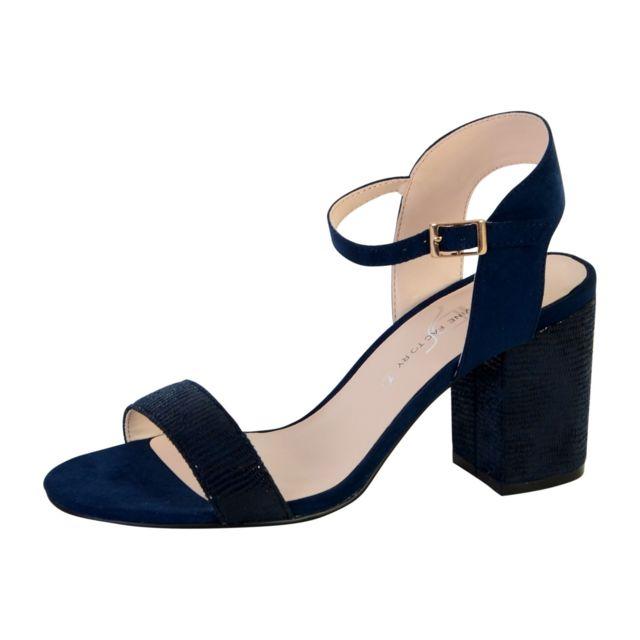 36b35c765b98a4 The Divine Factory - Sandale Talon Bleu - 40 - pas cher Achat / Vente  Sandales et tongs femme - RueDuCommerce