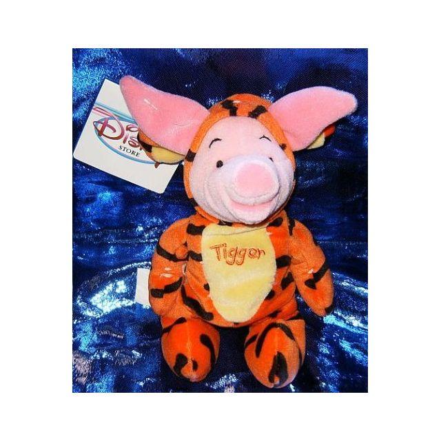 WINNIE L'OURSON Disneys Winnie the Pooh Piglet as Tigger 7 Plush Beanie