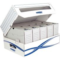 Bankers Box - conteneurs avec fenêtre d'ouverture - paquet de 10