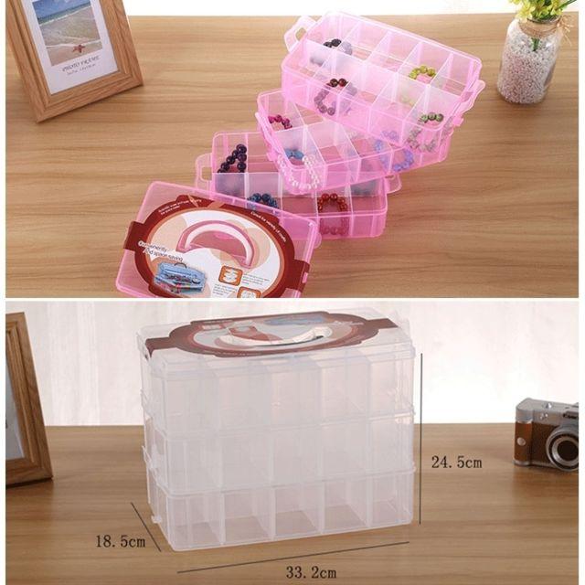 Grande Maison Organisateur en Plastique Transparent Boîte de rangement Boîtes avec couvercle 60 L Conteneur
