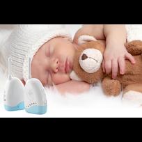 Auto-hightech - Babyphone Audio - avec température / alarme pipi au lit, sans fil et portable