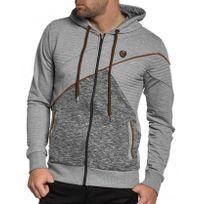 BLZ Jeans - Gilet sweat capuche gris pour homme