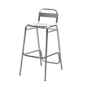 alin a techno tabouret haut de bar en aluminium pas cher achat vente chaises rueducommerce. Black Bedroom Furniture Sets. Home Design Ideas