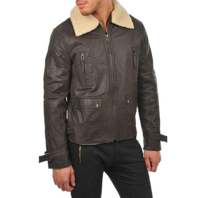 e71c933758 Arturo - Blouson cuir Couleur - marron, Taille Homme - Xxl - pas ...