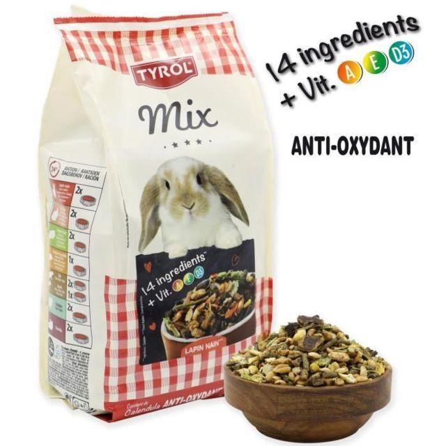 GRAINES Menu complet Premium Mix - Pour lapin nain - 750 g