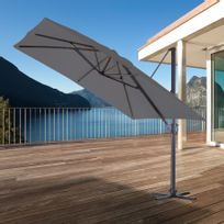 Ozalide - Parasol alu anthracite luxe king 300x 300 cm