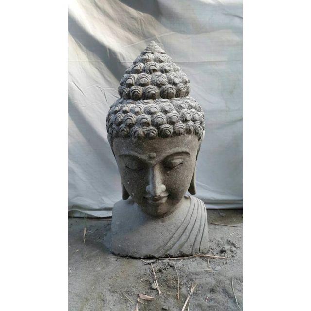 decoration exterieur bouddha finest statue statuette statue dco tte de bouddha en rsine with. Black Bedroom Furniture Sets. Home Design Ideas