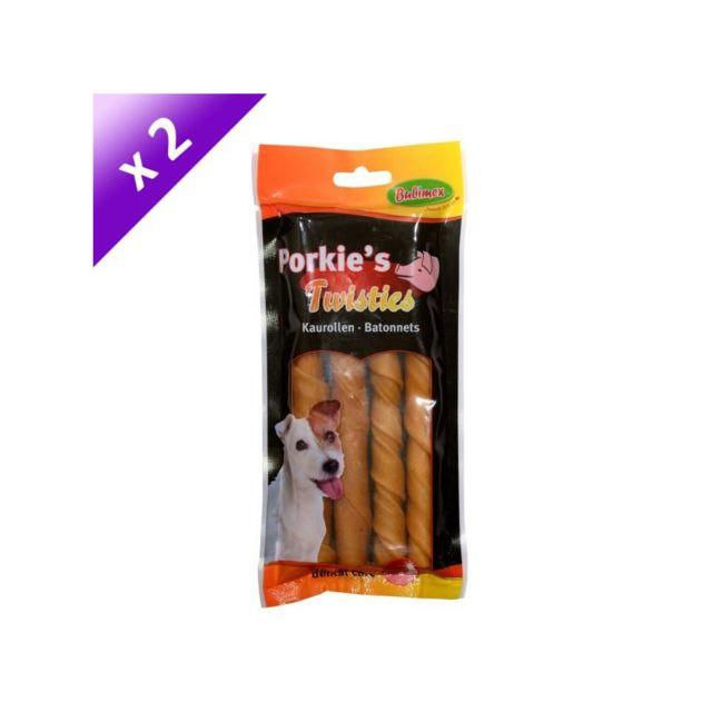Bubimex Sticks d'os en peau de porc x2