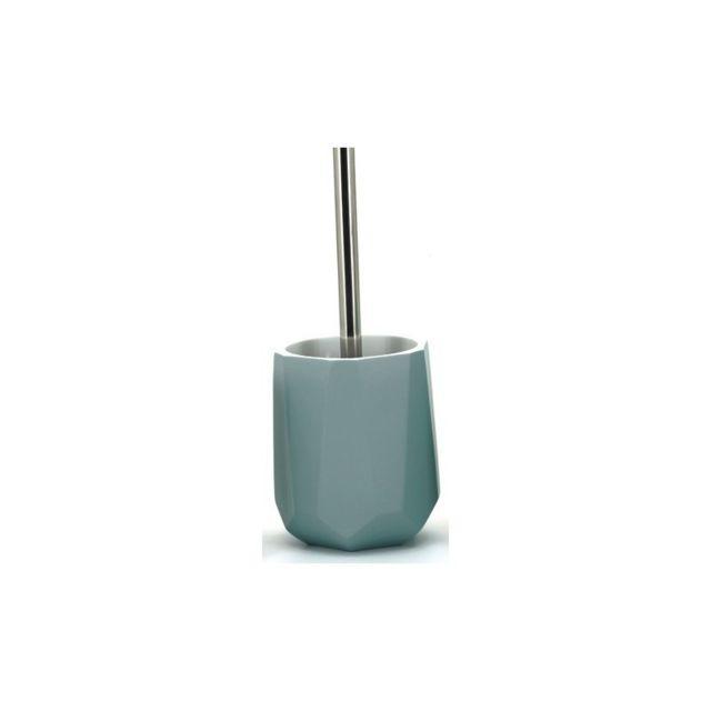 Meubletmoi Brosse Wc Avec Support Gris Bleute Design Zen