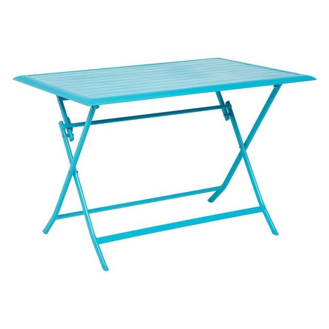Hespéride Table aluminium Azua 4 places bleu lagon
