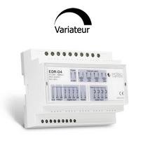 Edisio - Récepteur actionneur rail din 4 sorties 500W et 7 entrées compatibles