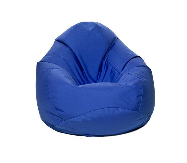 Jumbo Bag Pouf Xxl forme poire Scuba Xxl - Bleu