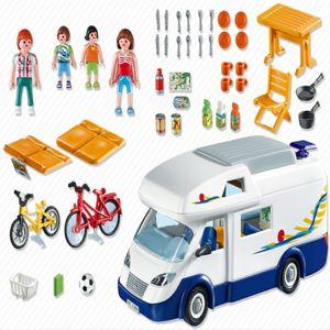 Playmobil 4859 grand camping car familial pas cher - Camping car playmobil pas cher ...