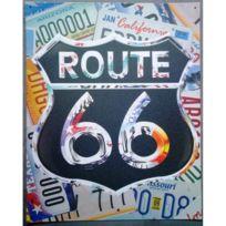 Universel - Plaque route 66 collage license late tole publicitaire usa