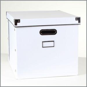 calicosy bo te de rangement carton blanc armature m tal moyen mod le pas cher achat. Black Bedroom Furniture Sets. Home Design Ideas