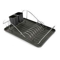 Declikdeco - En adoptant cet Égouttoir noir Frixe, vous optimiserez le séchage de votre vaisselle. Il propose un porte-ustensiles afin de bien organiser vos rangements. Vos assiettes et vos couverts y trouveront très bien leur place. Caractéristiques :- Élément essen