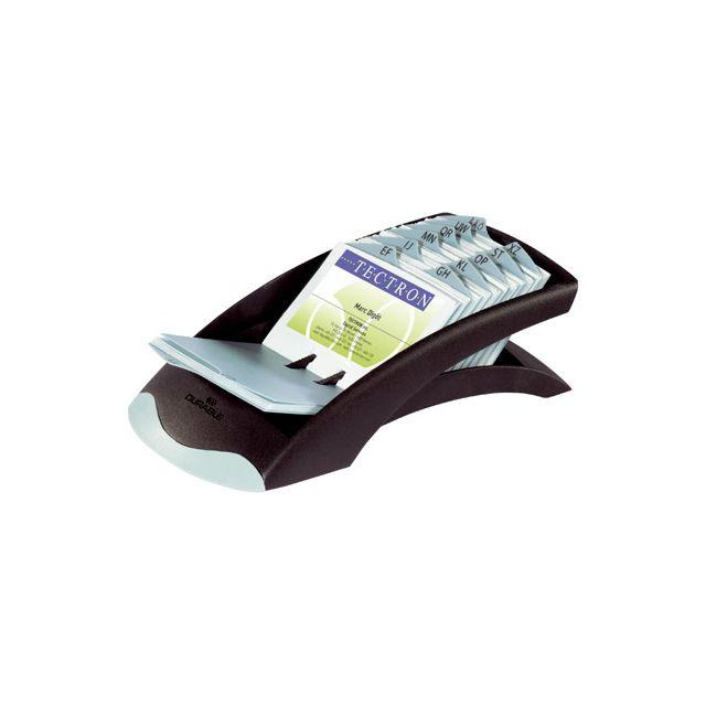 Durable - Fichier linéaire noir pour cartes de visite - pas cher ... 8390d91fa41