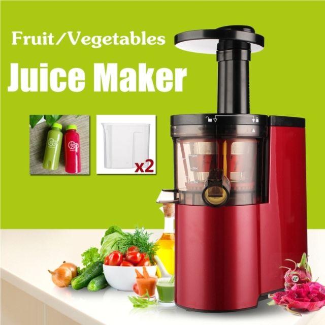 Wewoo 220V-150W Presse-fruits électrique Légumes Basse vitesse Autonettoyant Ultra-silencieux Rouge Squeezing Juice Maker Extr