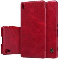 Nillkin - Etui à rabat Qin rouge Sony Xperia_XA avec logement carte