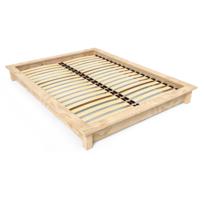 Abc Meubles - Lit futon Solido en bois Massif 2 places