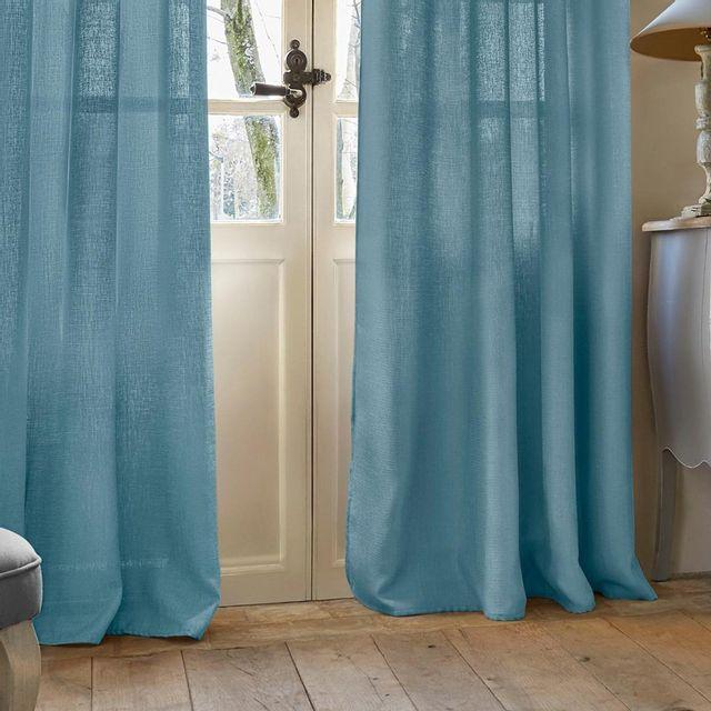 rideau bleu achat vente de rideau pas cher. Black Bedroom Furniture Sets. Home Design Ideas