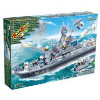 Banbao - jeu de construction - fregate de la paix 858pcs - 7 personnages -serie defence force