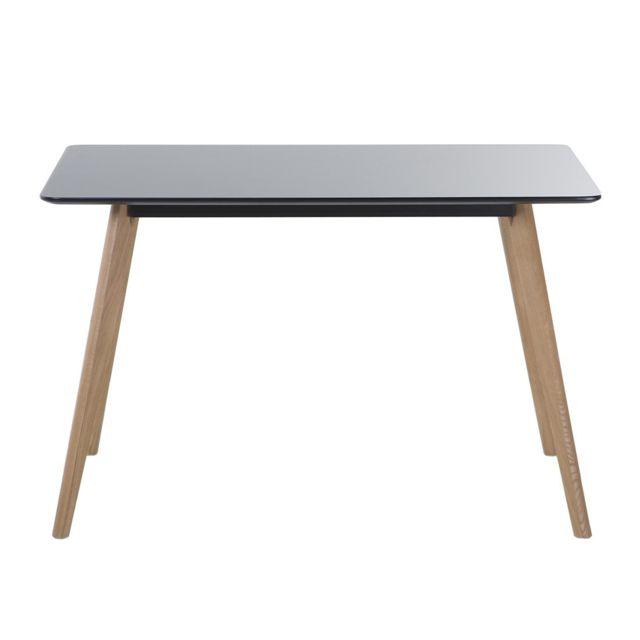 Table de salle à manger - table de cuisine - noir - 120x80 cm - FLY