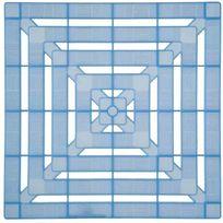 Galedo - Caillebotis plastique - Bleu translucide 56 x 56 cm