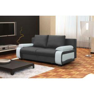 CHLOE DESIGN Canapé Design Convertible Billy Gris Et Blanc Cm - Canapé design en cuir