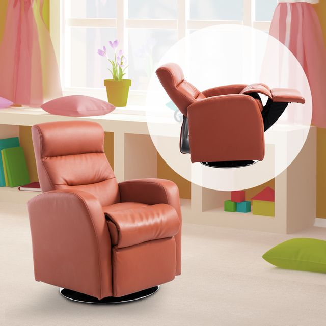 HOMCOM Fauteuil grand confort inclinable design contemporain pour enfants à partir de 3 ans orange brique neuf 11