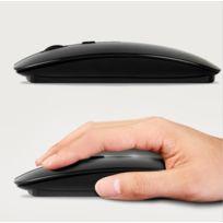 Shot - Souris pour Pc Medion Usb Sans Fil Ultra Plate Universelle Capteur Optique 3 Boutons Ordinateur NOIR