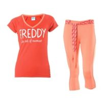 Freddy - Ensemble maillot + pantacourt Wr.UP Shaping Effect corail
