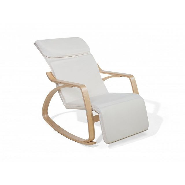 Beliani - Chaise à bascule ivoire design contemporain - Weston N/A - N/A