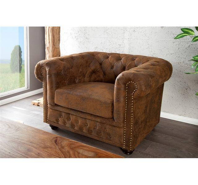 CHLOE DESIGN Fauteuil design Chestro - brun