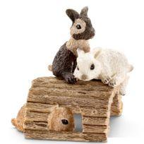 Schleich - Figurine lapin : Jeunes lapins jouant