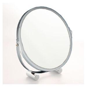 jja miroir 2 faces pivotantes sur pieds inox pas cher. Black Bedroom Furniture Sets. Home Design Ideas