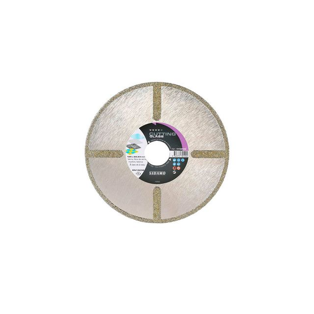 sidamo disque diamant cutting glass d 180 x 30 x h 4 mm verre fibre de verre 11130121. Black Bedroom Furniture Sets. Home Design Ideas