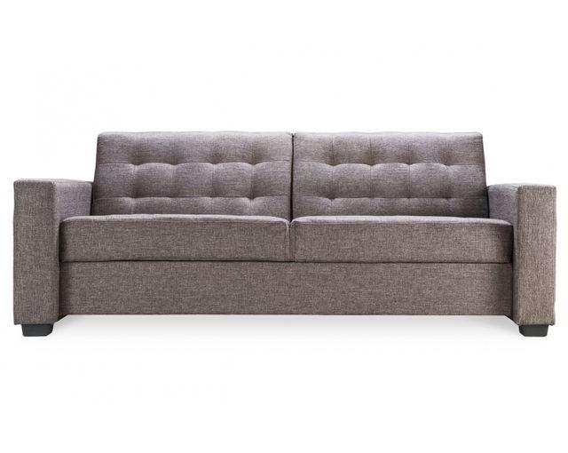 Remarquable Canapé lit design tissu gris
