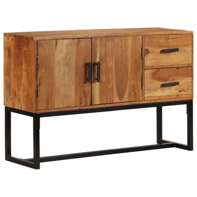 Vidaxl Buffet Bois d'Acacia Massif Marron Armoire Commode Table d'Appoint