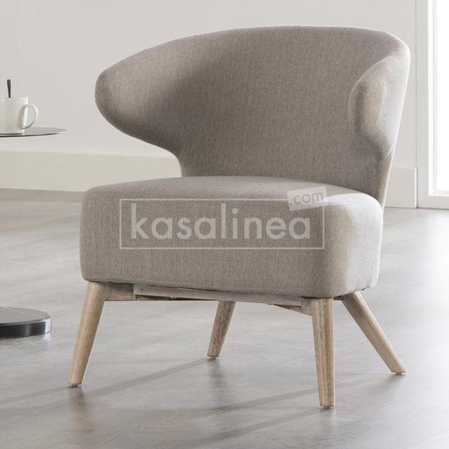 Kasalinea Fauteuil design gris Maya 2