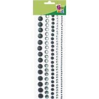 Graine créative Bandes de perles adhésives Noir 5 pièces