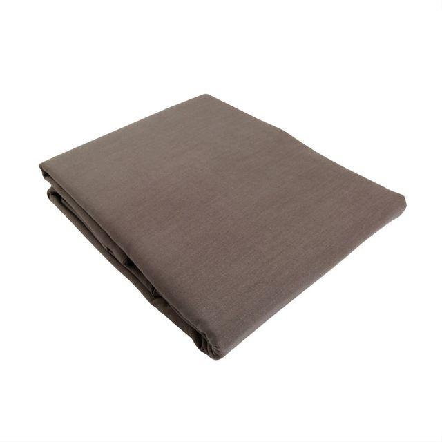 marque generique drap plat 180 cm confort taupe marron 180cm x 290cm pas cher achat. Black Bedroom Furniture Sets. Home Design Ideas