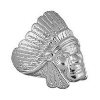 So Chic Bijoux - Bague Chevalière Homme Tête Indien Amérique Argent 925 - Taille 64